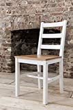 Dining Table & 4 Chairs Annika in White and Natural Pine (Natural Pine & White)