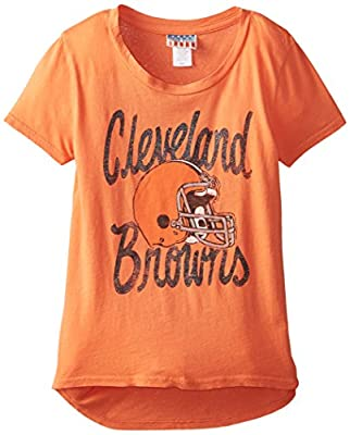 NFL girls Girls Game Day Glitter Tee Cleveland Browns