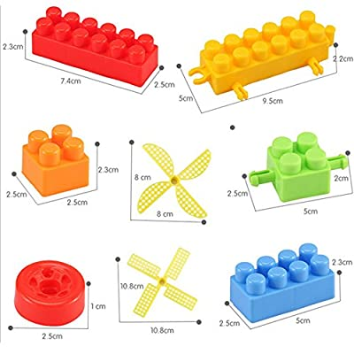 ComeLove 3D Fashion 128 Pieces Sort Shape Kids Green Gift Toys