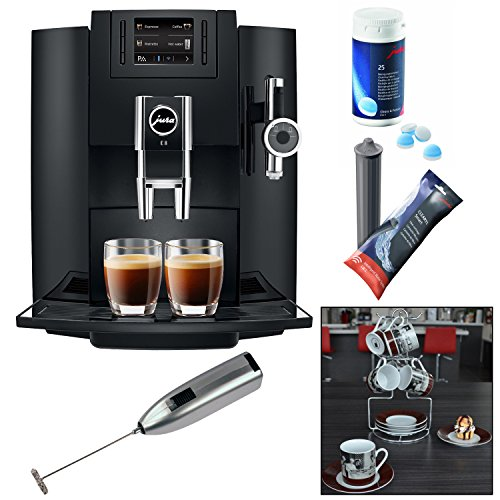 Jura E8 Espresso Machine + Cleaning Tablets + Filter Cartridge + Knox Milk Frother (Jura E8 Water Filter compare prices)
