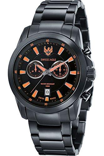 SWISS EAGLE SE-9055-99 - Reloj para hombres, correa de acero inoxidable