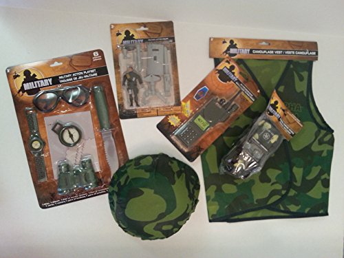 Military Army Friction Toy 15 Piece Combo Set