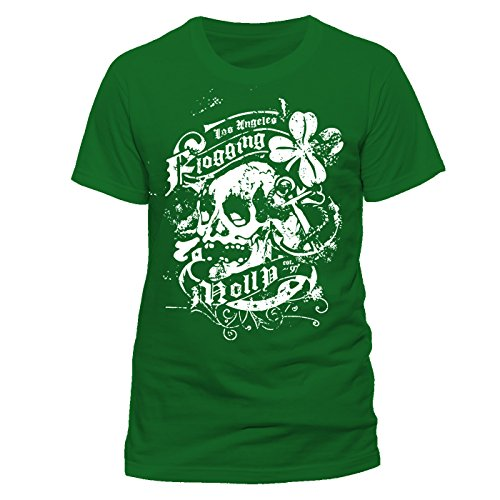 CID - FLOGGING MOLLY - Green Shamrock T-Shirt Größe S