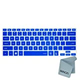 MiNGFi Silicone Keyboard Cover Protector Skin for 13.3 Samsung ATIV Book NP940X3G NP900X3E NP900X3C NP900X3D NP900X3F series US Keyboard Layout - Translucent Blue