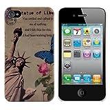 Kwmobile® Hard case City design (New York) for Apple iPhone 4 / 4S