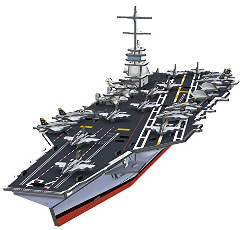 Top Race® 3D Puzzle, Gerald R. Ford Aircraft Carrier Puzzle, No Glue, No Scissors, Easy to Assemble. (99 Pieces) (Aircraft Carrier Model compare prices)