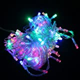 HDE 100 Energy Efficient Water Resistant LED Fairy String Lights for Patio, Dorm, Holiday Christmas Xmas Wedding Party (Multi-Colored)