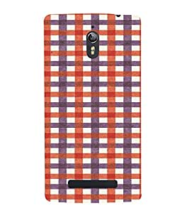 PrintVisa Checks Fabric Pattern 3D Hard Polycarbonate Designer Back Case Cover for Oppo Find 7