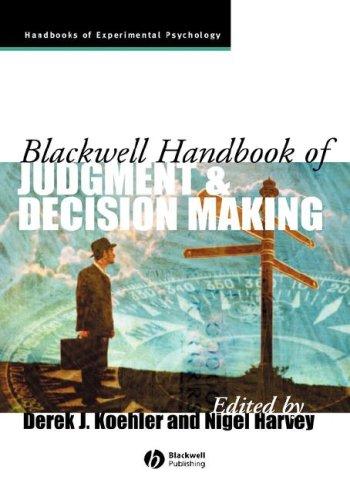 blackwell handbook of judgement