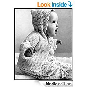 KNITTED HOOD SACQUE - Vintage Hooded Baby Sweater Knitting Pattern