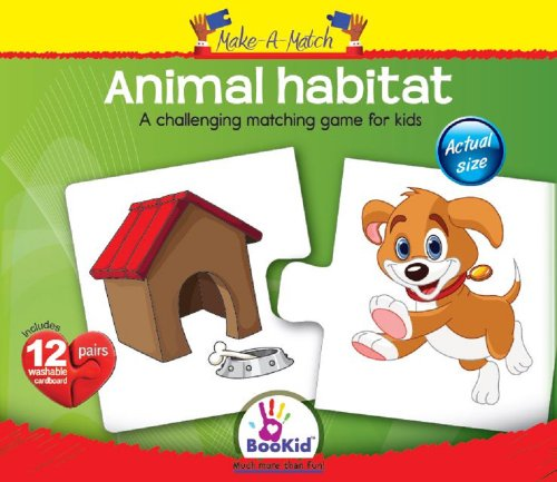 Make A Match Baby Puzzle Games - Animal Habitat. For 18+ Months Old - 1