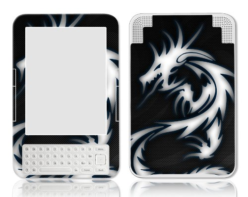 Bundle Monster Amazon Kindle 3 Ebook Vinyl Skin Cover Art Decal Sticker Protector Accessories - Fit 3rd Generation - Blue Dragon