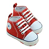 ZNU Canvas Baby Shoes Toddler Sneaker Kickers for First Walking Booties Unisex Boys Girls 0-6, 6-12, 12-18 Months