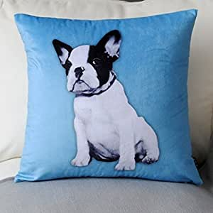 Cute Dog Pillow Beds : Amazon.com - Luk Oil Super Soft Plush Sofa Bed Cushions Backrest Cushion Lumbar Pillow Cute Blue ...