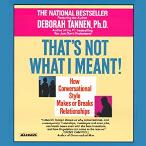 That's Not What I Meant | [Deborah Tannen]