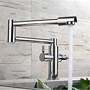 Hienduretm Fold Kitchen Faucet Extension Hot And Cold Water Kitchen Faucet Mixer Tap Sink