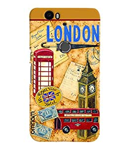 Omnam London Stickers Collage Desinged Back Cover Case For Google Nexus 6P