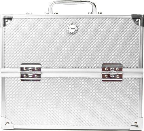 SOHO-Pro-Texture-Diamond-Silver-Beauty-Case