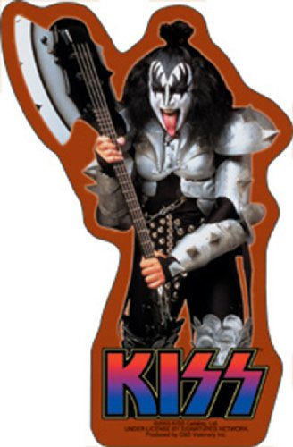 Licenses Products Kiss Gene with Axe Sticker