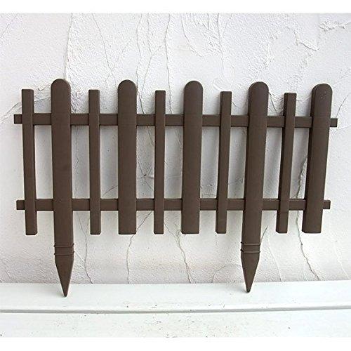 ガーデンフェンスかきね60H型ブラウン10枚セット[花壇用柵]