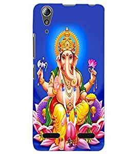ColourCraft Lord Ganesha Design Back Case Cover for LENOVO A6000 PLUS
