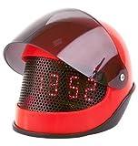 PT Silly Alarm Clock Motor Helmet Abs, Red