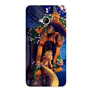 Ajay Enterprises Eli Angel Thinking Multicolor Back Case Cover for HTC One M7