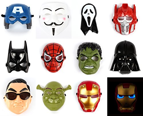 Starwars Avengers Hulk Ironman Spiderman Batman Transformer Shrek Psy Plastic Mask