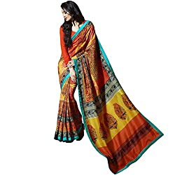 Vasu Saree For Women Multi Colour Bangalore Silk Lace Border Designer Trendy Saree