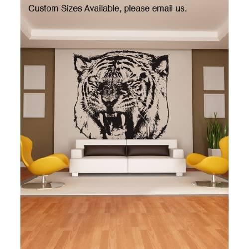 Vinyl Wall Decal Sticker Angry Tiger Item790s