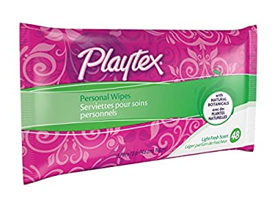 Playtex Personal Wipes, 48 Count, Pack of 3