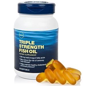 Gnc triple strength fish oil 60 cap health for Triple strength fish oil