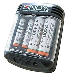 lindy 84871 chargeur d chargeur de piles rechargeables high tech. Black Bedroom Furniture Sets. Home Design Ideas