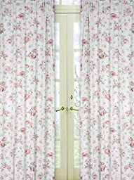 Riley\'s Roses Window Treatment Panels - Set of 2