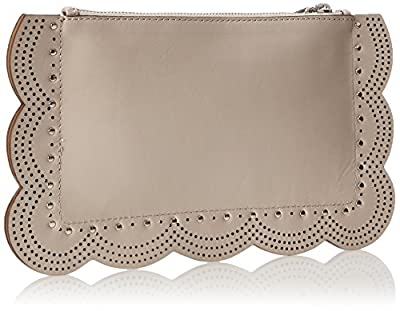 BCBG Scallop Perforated Leather Clutch