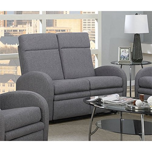ACME Azura Linen Loveseat with Motion in Gray