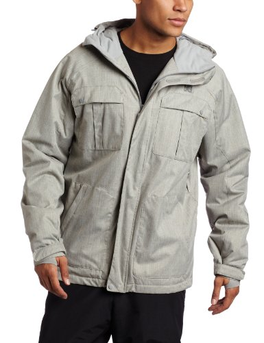 DC Mens Servo Snowboard Jacket - Heather Grey (Medium)