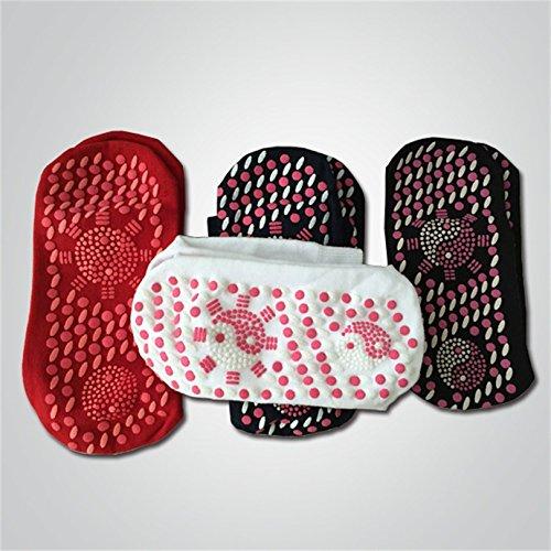 dynry (TM) tormalina ioni negativi infrarossi magnetica self-heating Calze beriberi Cracked Feet freddo piedi piedi caldi, White