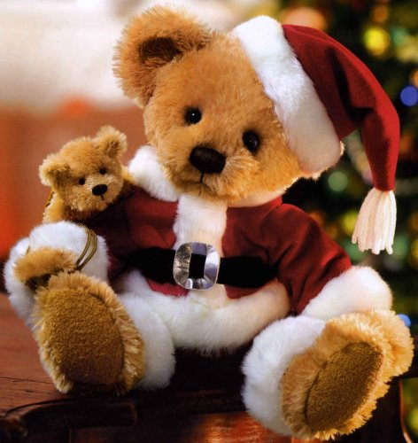 Buy Kringles Santa Bear Teddy Bear Plush Stuffed Animal