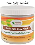 Organic Bentonite Clay Mask-Indian Healing Clay- the Worlds Most Powerful and Effective Facial and Hair Mask -Deep Pore Cleansing-Anti-Aging-Detoxifying-For All Skin Types- 100% Purest and Highest Quality Bentonite Clay-No Chemical, Additive or Fragrances added- Including a Mask Brush and a Natural Konjac Facial Sponge- Perfect Gift Set