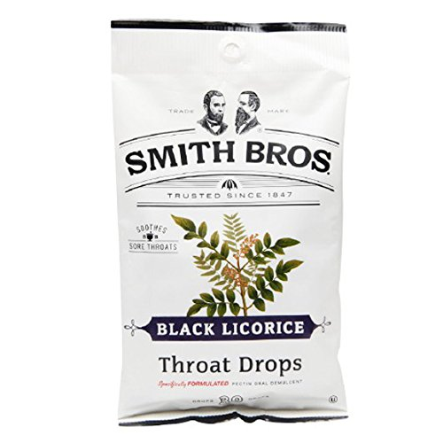 Special Pack Of 6 Smith Bro Cough Drop Black Licor 30 Per Pack X 6