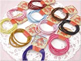 Lot of 80 Color Elastic Ponytail Holder Ties Hair Styling Accessories