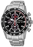 Mens Seiko Sportura Alarm Chronograph Solar Powered Watch SSC271P9