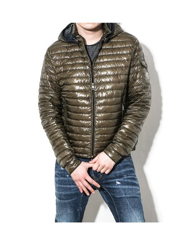 Moncler Moncler Men's LIONEL Detachable Hood Spring Goose Down Jacket Khaki 5 (IT) XL (US)