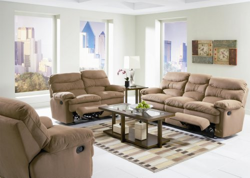 Buy Low Price AtHomeMart 3PC Reclining Microfiber Sofa, Loveseat, and Chair Set (COAS600461_600462_600463_3PC)