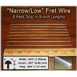 Narrow/Low Fret Wire for Mandolin, Banjo, Ukelele, Dulcimer & more - Six Feet