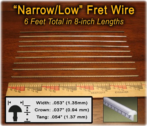 Narrow/Low Fret Wire for Mandolin, Banjo, Ukelele, Dulcimer & more - Six Feet (Fret Wire compare prices)