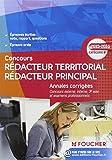 Annales corrigés Rédacteur Territorial / Rédacteur Principal Catégorie B - 2015 - 2016...