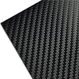 3M ラップフィルム カーボンシート スコッチプリント シール ステッカー カーラッピング ブラック/黒 サイドミラーや内装のカスタムに最適サイズ (1m x 30cm) 1080-CF12