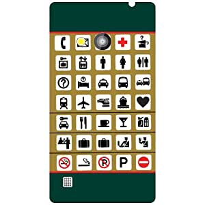 Via flowers Back Cover For Nokia Lumia 720 Different Signs Multi Color
